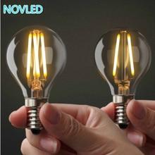 Светодио дный лампы E27 E14 накаливания свет Стекло лампы 2 Вт 4 Вт 6 Вт 8 Вт 220 В 240 В винтаж лампочка Эдисона A60 G45 Ретро Лампа свечах освещения