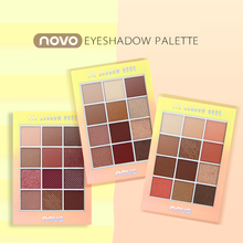 NOVO New Arrival 12colors eyeshadow palette Matte EyeShadow naked palette Glitter eye shadow MakeUp Nude MakeUp set(China)