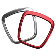 1 шт. рулевого колеса автомобиля декоративные металлические кольца Стикеры для Audi A4 A5 A6 Q5 Q7 авто Интерьер колесо с наклейками крышка Стикеры s кольца