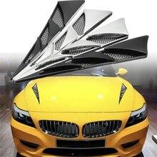 Новая автомобильная боковая воздушная Выходная воздушная наклейка для впуска капота декоративная воздушная выходка внешние аксессуары высокое качество прочная практичная