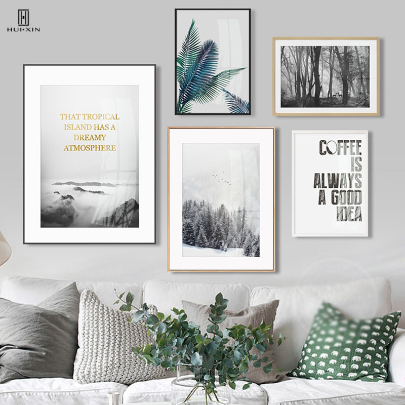 Modern Fresh Of The Tropical Island Has A Dreamy Atmosphere White Snow The Mountain Decorative Paintings Pictures For Home Decor