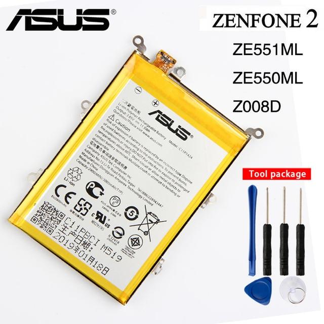 מקורי C11P1424 סוללה עבור Asus ZenFone 2 Z008D ZE551ML ZE550ML Z00AD ZenFone2 5.5 אינץ 3000 mAh