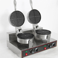 Double Head Waffle Maker Commercial Coffee Shop Meat Waffle Maker Commercial Kitchen Equipment