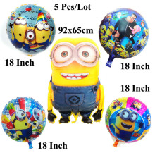 все цены на 5Pcs/Lot minion baloon despicable me inflatable minion toys ballons birthday decoration party supplies minion balloons онлайн