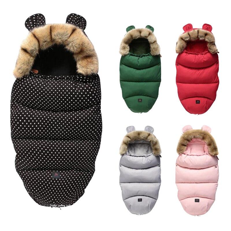 Nouveau-né enveloppe coton chaud bébé sac de couchage sac de sommeil pour nouveau-né 0-36 mois