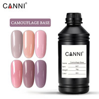 1000g bulk CANNI soak off led uv high quality no wipes topcoat gel Comouflage color rubber base coat nail gel