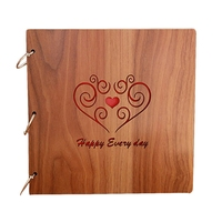 Wooden Handmade Loose Leaf Pasted Photo Book Personalized Baby Lovers Scrapbooking Creative Gift Stationary Set