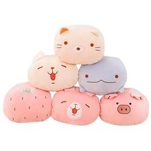 1pc Cute San-x Sumikkogur Pig Plush Stuffed animal Pillow Korea Dolls Napping Warm Hand Girls Toy Doll Baby