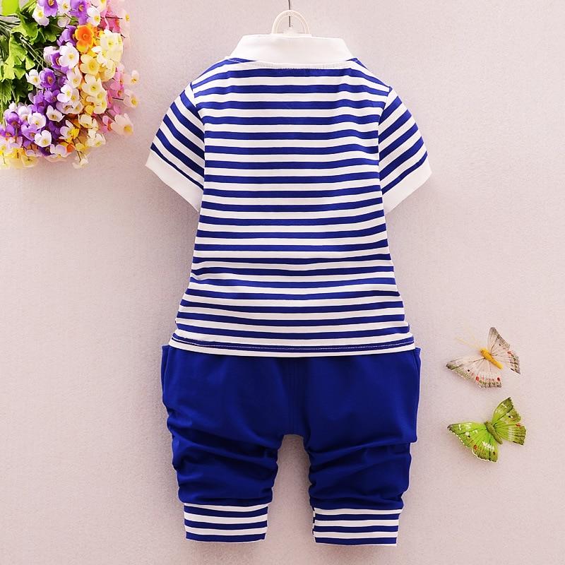 0-2Y Baby Boy odzież zestaw Toddler koszulka w paski + spodnie 2 - Odzież dla niemowląt - Zdjęcie 5