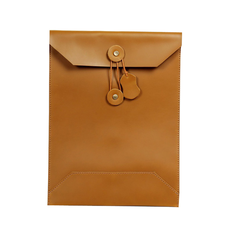 Folder for Papers Cow Nature Leather Folder for Documents Document Case Leather A4 Paper Envelope File Bag Office Supplies in File Folder from Office School Supplies
