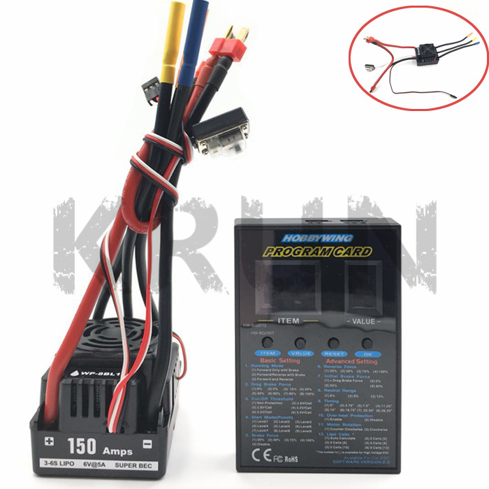Brand New waterproof 150A WP 8BL 150 RTR Brushless Sensorless ESC Speed Controller For 1 8RC