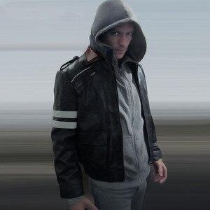 Image 5 - Высококачественный новый костюм для косплея Алекса Мерсера, вышитая куртка, пальто из искусственной кожи, костюмы на Хэллоуин для женщин и мужчин