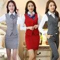 2017 Чжи Шоу рубашка жилет костюм юбка женщины жира мм большой размер регистрации банковские стюардессы униформа униформа