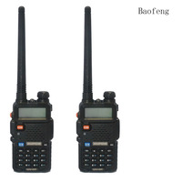 2PCS BaoFeng UV 5R Walkie Talkie 136 174 400 520Mhz VHF UHF DUAL BAND Two Way
