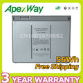 "Apexway 56Wh MA601 MA610 MA609 Li-polímero Batería Del Ordenador Portátil A1175 MA348 Para Apple MacBook Pro 15 ""A1150 A1260 MA463 MA464 MA600"