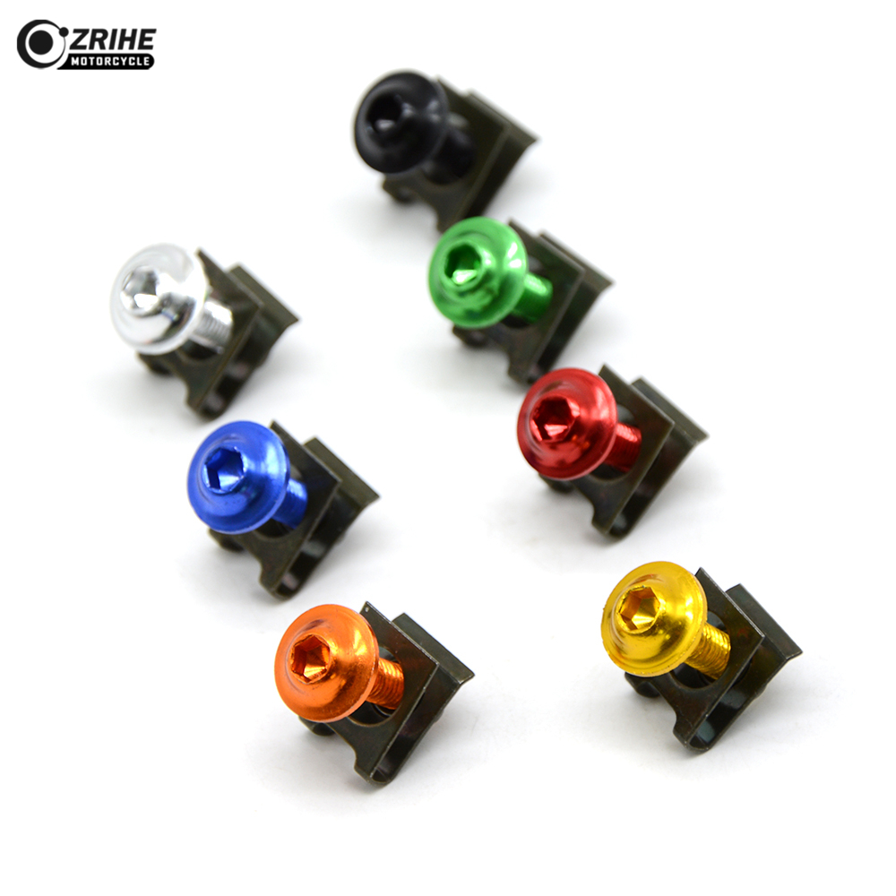 6MM Universal CNC Motorcycle Accessories Fairing body work Bolts Screws for Yamaha MT07 MT 07 2014 2015 Tmax T MAX 500 530 Z750