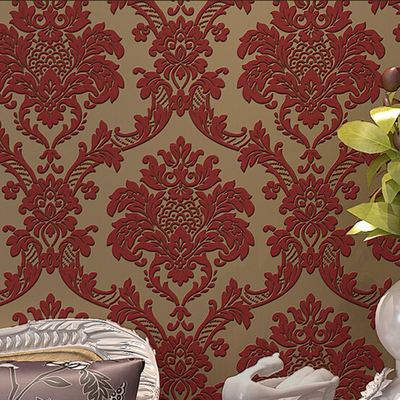 beibehang silk Damask 3D Wallpaper Mural Imitation Non-woven Feature Wall Paper Roll for Living Room bedroom wallpaper sofa  beibehang wall coverings mural wall paper roll bedroom sofa off white textured feature europe vintage glitter damask wallpaper