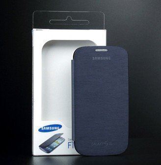 Flip Cover case For Samsung Galaxy S3 SIII I9300 Sapphire blue +Screen Protectro Free Shipping