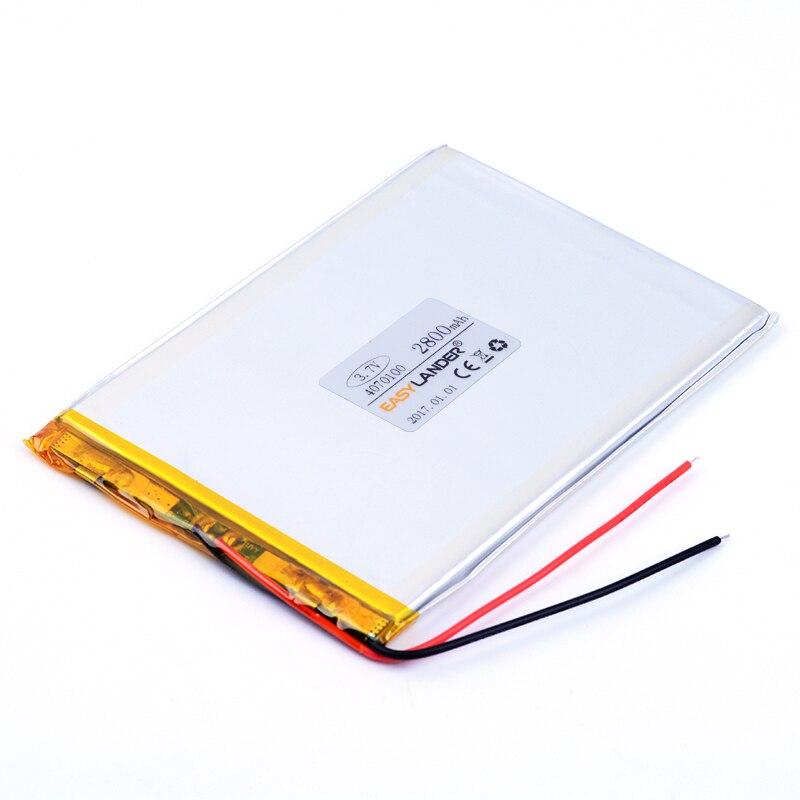 4070100 Rechargeable Lithium Li Polymer font b Li ion b font 3 7V 2800mAh font b