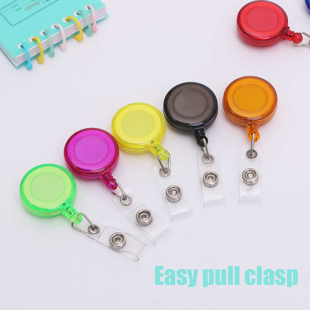 New 5/10pcs Mini Badge Holder Retractable Ski Pass Nurse Lanyards ID Card Badge Name Tag Holders Anti-Lost Clip