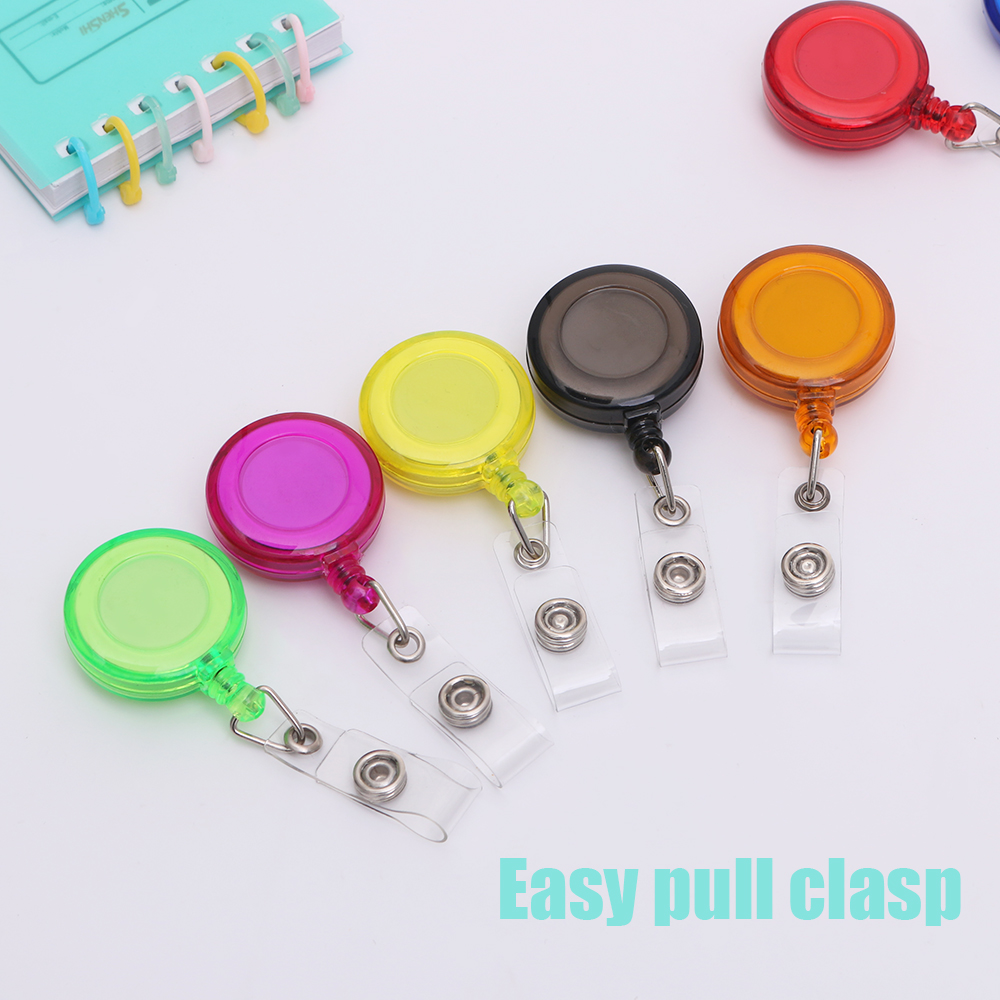 10 Pack// Lot Retractable Badge ID Card Holders with Carabiner Reel Key Clip Chan