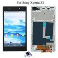 Para sony xperia z1 l39h c6902 c6903 c6906 pantalla lcd de pantalla táctil con la asamblea del digitizador + frame + herramientas blanco, envío Gratis
