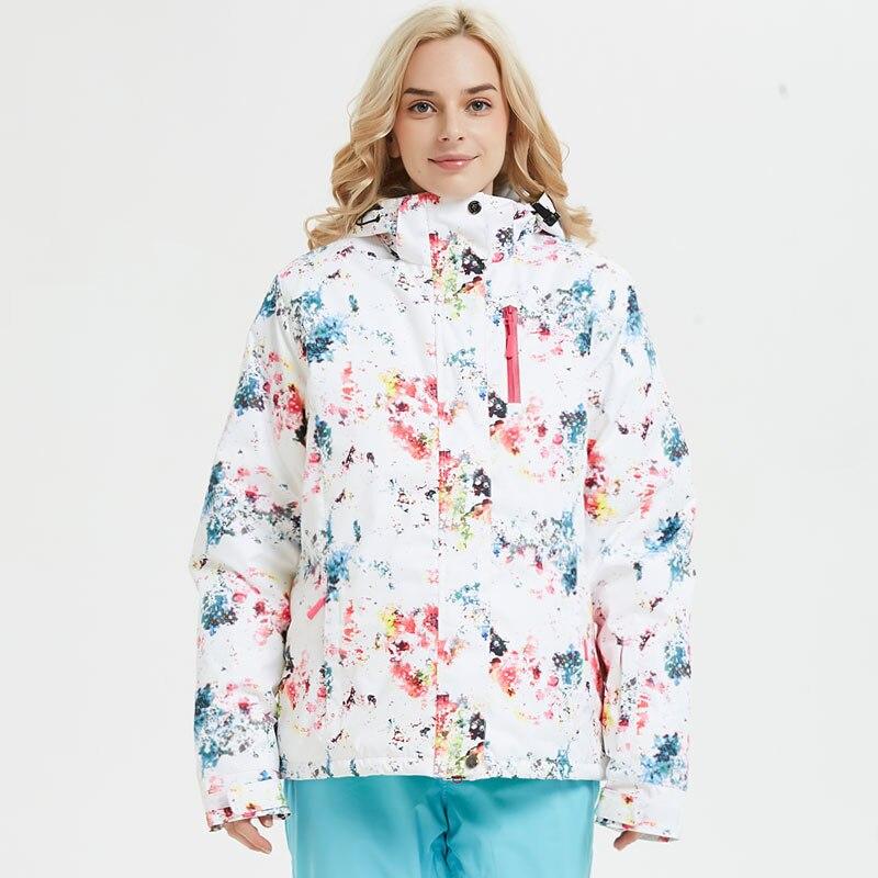 Femmes Ski costume marques hiver 2018 haute qualité chaud imperméable coupe-vent vêtements neige pantalon et veste Ski snowboard costumes