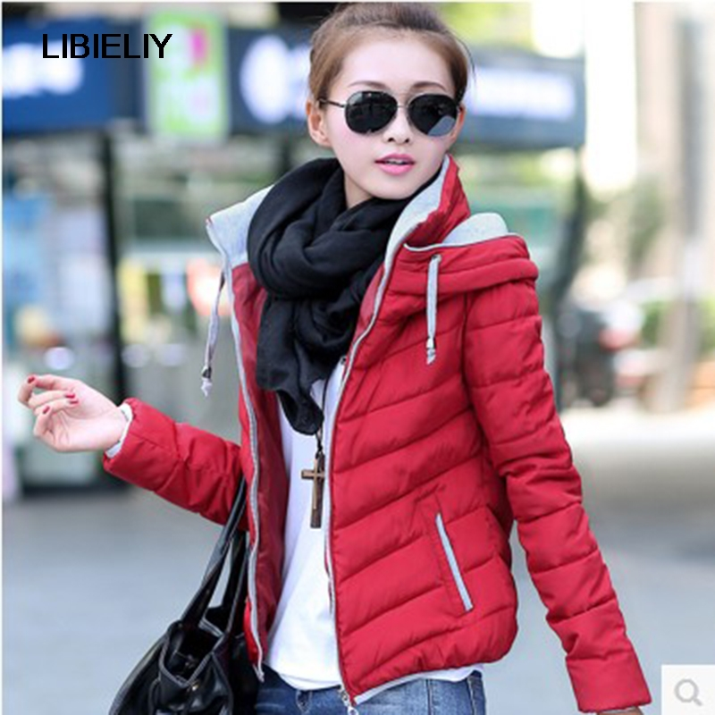 Nice Women   Basic     Jacket   Warm Manteau Down Coat Slim Autumn Zipper Stand Collar Outerwear Long Sleeve Casual Quilted Plus Size