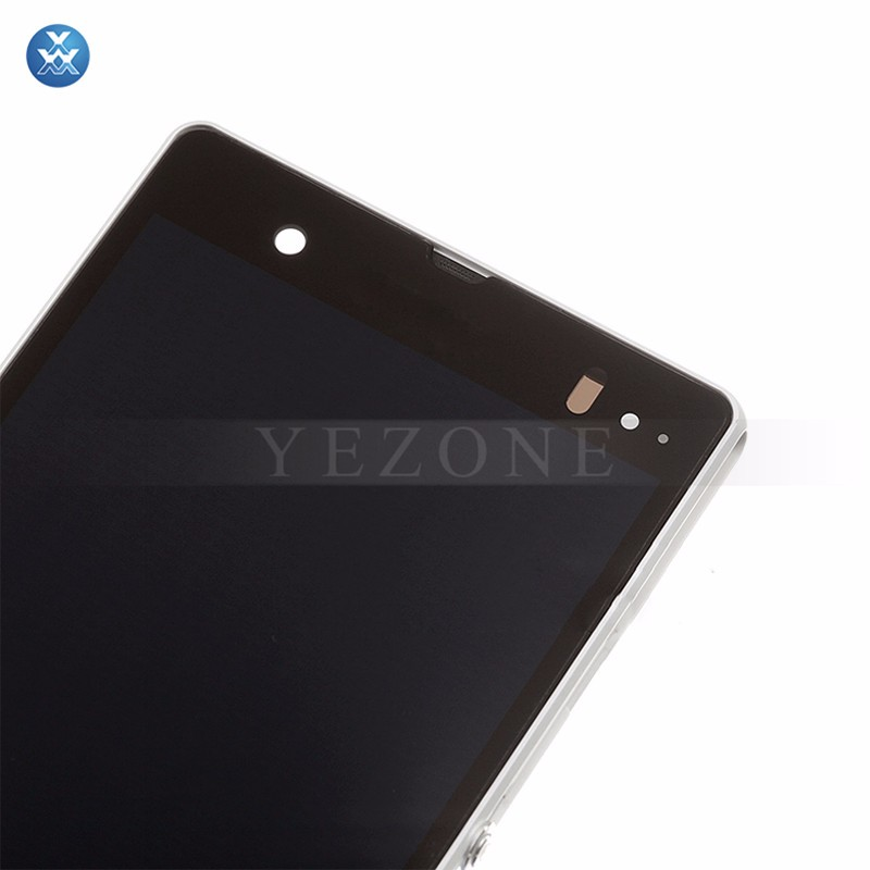 Sony Xperia Z L36h LCD & Digitizer Assembly with Frame - WHITE (5)