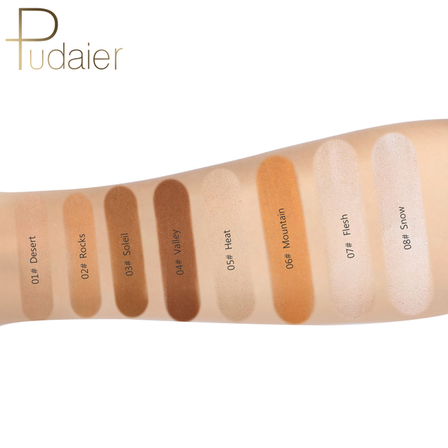Pudaier Makeup Face Loose Powder For Women Dark Skin Long Lasting Whitening Bronzer Contour Nude Base Foundation Setting Powder 4