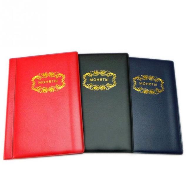 120 Lưới Nga Kích Thước Nhỏ Chủ Sở Hữu Đồng Xu Tệ Bộ Sưu Tập Lưu Trữ Album Pocket Wallet đối với Trang Chủ cứng tệ bảo vệ