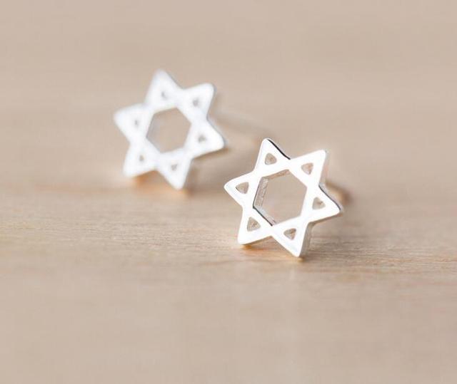 Sterling Silver Star Earrings (8mm) KMSQK