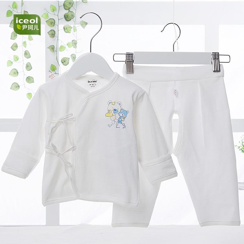 2 PCS Comfortable Baby Sets Cute Bear Cotton Full Sleeve Belt Infant Clothing Cartoon Girls Kid Summer New O-Neck Clothing Coat