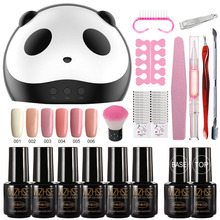 MIZHSE 18Pcs/Lot DIY Nail Art Practice Nail Gel Tools Set  Manicure 36W Led Lamp Nail Dryer Pro UV Lamp Gel Nail Polish Set