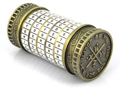 New Educational toys Metal Cryptex locks gift ideas Da Vinci Code lock to marry lover escape chamber props get 2 free rings in Action Toy Figures from Toys Hobbies