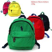 2017 Children s Backpack For Boys Girls In Kindergarten Polo Canvas Backpacks Kids School Bags Baby