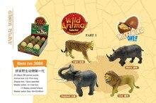 Для Продажи! 3D Головоломки Тигра, носорога, Слона, лев, диких Животных, животные DIY Развивающие Игрушки, интеллектуальные Миниатюрное ЛЕЛЕ