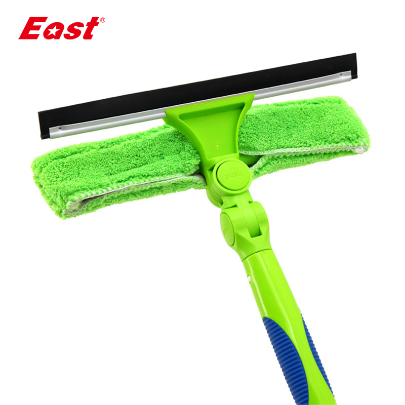 East Super Long Window Squeegee Glass Brush Microfiber Glass Cleaner Window Cleaner for Home Cleaning