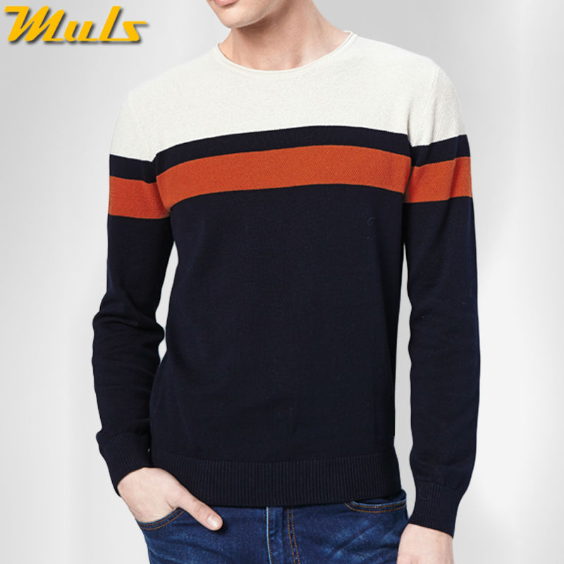 New arrival striped man pullover jumper autumn male knitted jersey