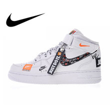 timeless design 2451e 16453 Nike Air Force 1 Mid Women s Skateboarding Shoes Just do it Sneakers  Outdoor Sports PU Leather