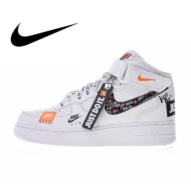 Nike Just do it Nike Air Force 1 Mid Women's Skateboarding Shoes Just do it Sneakers  Outdoor Sports PU Leather Athletic Designer Footwear BQ6474-in  Skateboarding from ...