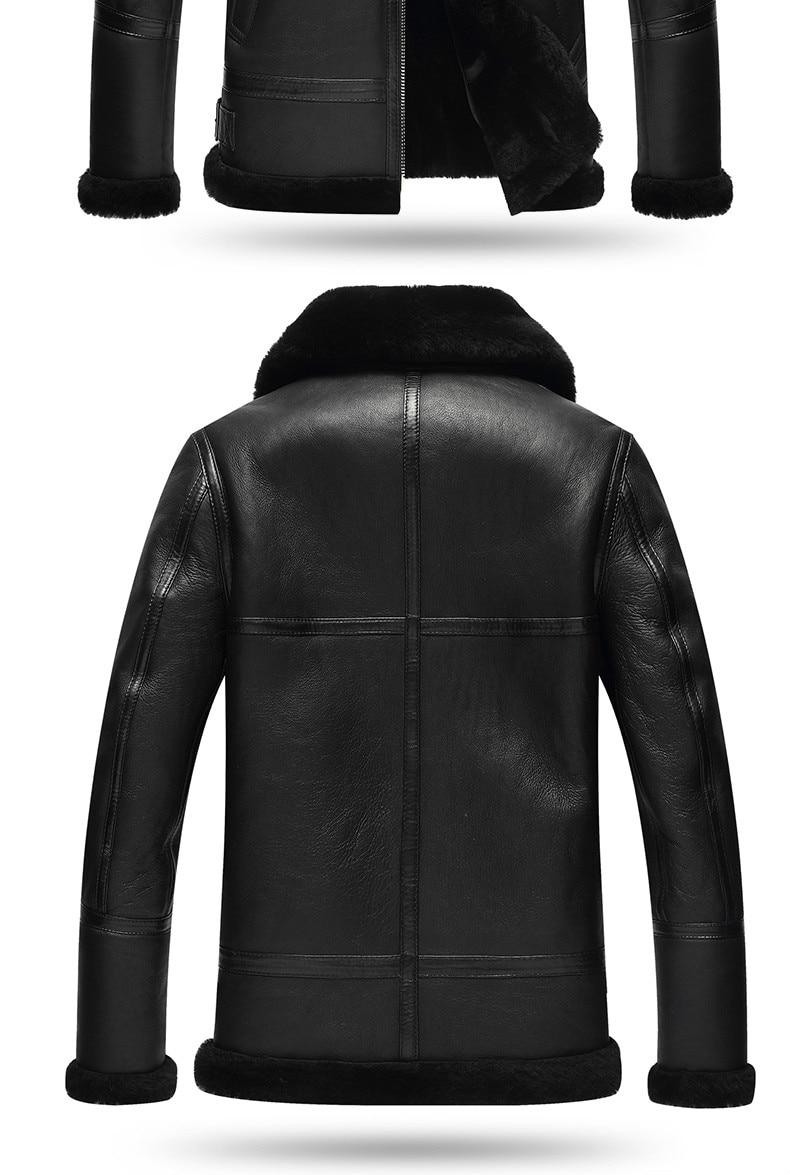 HTB1jjVHKrGYBuNjy0Foq6AiBFXaU AYUNSUE Genuine Leather Jacket Men Winter Australian Natural Fur Real Sheepskin Coat for Men Lamb Fur Flight Men's Jackets KJ853