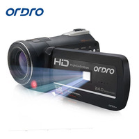 Ordro Digital Video Camera HDV D395 Infrared Night Vision Camcorder Wifi HD 1080P 30fps with Remote Control Dual LED Lights