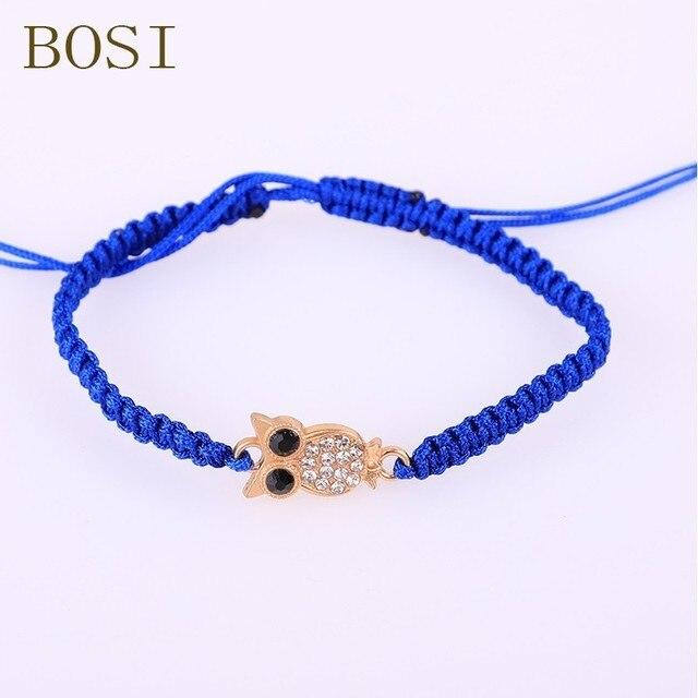 Bracelets Crystal owl Bohemian Rope charms Bracelet Jewellery Thread Bracelet for Women gold Jewelry Gift Lucky Fashion Handmade