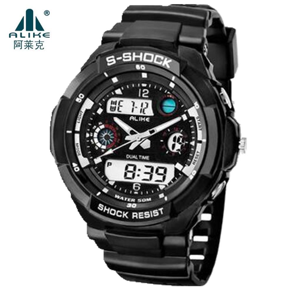 New Alike Brand Men LED Digital Military Watch 50M Dive Swim Dress Sports Watches Fashion Outdoor