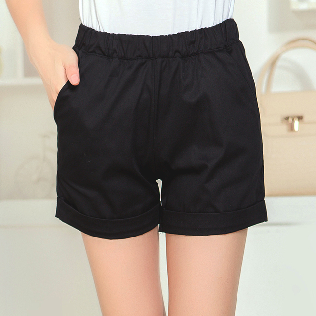 Elastic Waist Casual Fashion Shorts 2016 Summer Women New Arrival Plus Size Clothing Short Pant 8 colors  JN083
