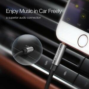 Image 2 - Ugreen kabel AUX do samochodu iPhone męski na męski kabel Audio Stereo 3.5 jack do jack 3.5 AUX kabel samochodowy do słuchawek bije głośnik