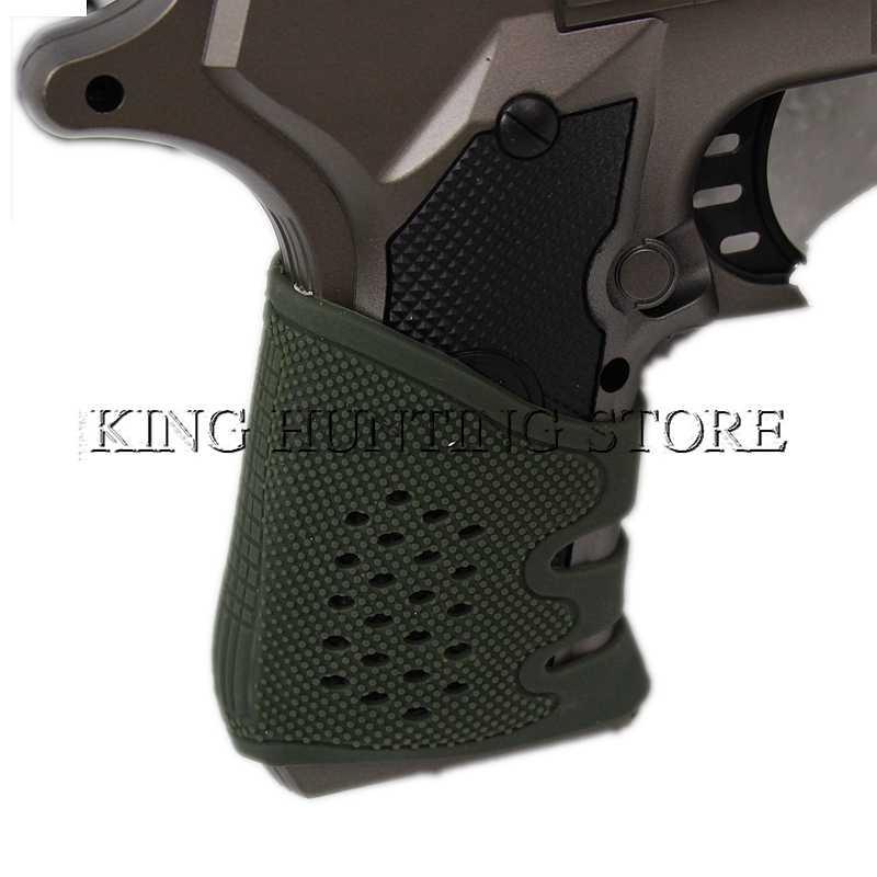 Heißer Verkauf Taktische Pistole Gummi Grip Handschuh Abdeckung Hülse Anti Slip für Die Meisten von Gl17 AR15 M4 AK-47 SIG Sauer p09 Airsoft Jagd