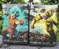Dragon Ball Z 2 unids/set Resurrección F Goku Budokai 5 Azul batalla Ver Oro Freezer PVC Figura de Acción De Colección Modelo de Juguete regalo