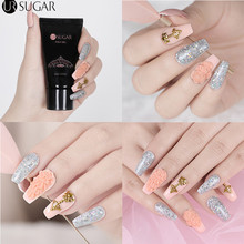 UR SUGAR 30ml Quick Building Poly UV Builder Gel Nail Tips Fast Finger Extension Camouflage Hard Gel Builder Gel Nail Art Brush